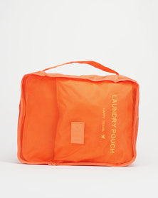 You & I Happy Set Of 6 Packing Solutions  Orange