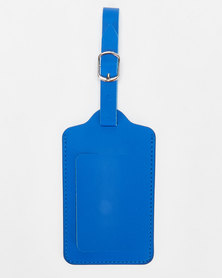 You & I Luggage Laether Look Tag Blue