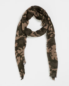 You & I Oversized Lightweight Scarf Camo