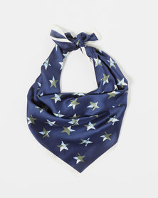 You & I Stars Silky Bandana Navy