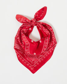 You & I Nostalgic Stars Silky Bandana Red
