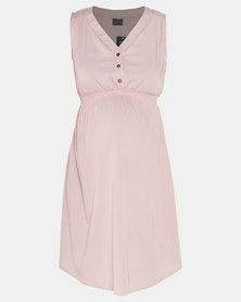 Cherry Melon Denim Dress Blush