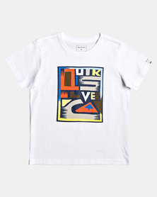 Quiksilver Tods Jumbled Up T-Shirt White