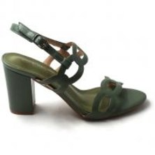 LaMara Paris Ivy embossed block-heel sandals Avo