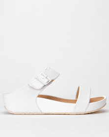 Butterfly Feet Pharrel Wedges White
