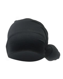 BLKT Knotted Wrap Black