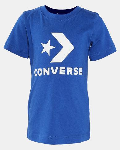 Converse  Stack Wordmark Graph Tee Blue