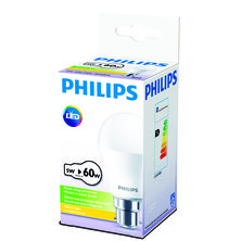 PHILIPS 5W Bayonet Cap LED - Warm White -  Pack of 12