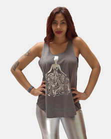 SKA Silver Dress Print Vest Grey