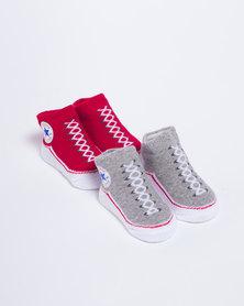 Converse Vintage Bootie Set Grey Heather/Red