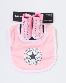 Converse Bib And Bootie Set Pink