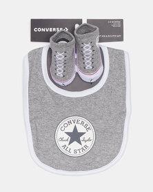 Converse Bib And Bootie Set Grey