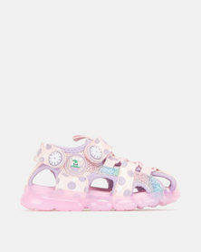 Bubblegummers Girls Closed Front Sandals Shoe Pink