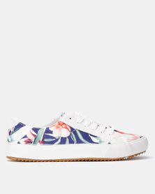 Crouch KG Floral Sneakers Navy