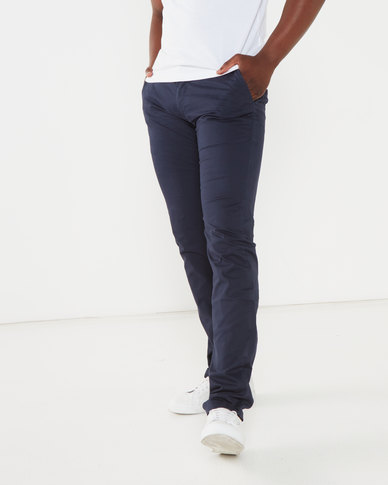 Soviet Maldini Slim Leg Cotton Chino Navy