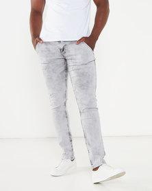 Soviet Victor #4 Skinny Denim Jeans Silver/Grey