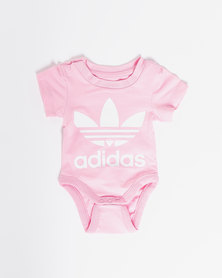 adidas Originals Infants Trefoil Body Vest  Pink