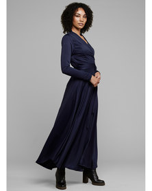 MARETH & COLLEEN Jo Dress Wrap Dress Navy