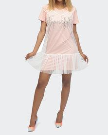 Urban Style Frill Dress Mink