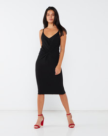 Paige Smith Knot Dress Black
