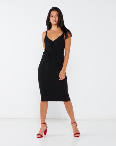 Paige Smith Knot Dress Black
