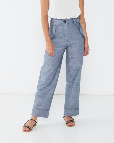 Paige Smith Military Pants Navy
