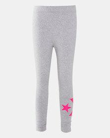 Converse Girls Wordmark Knit Leggings Grey