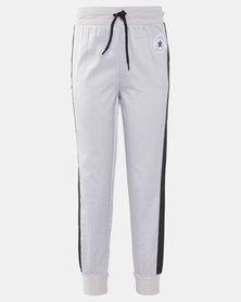 Converse Girls Wordmark Satin Track Pants Grey