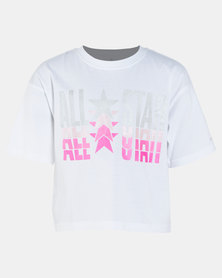 Converse Girls All Star Metal Boxy Tee White