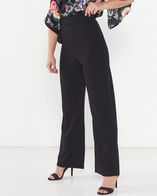 QUIZ Extra High Waist Palazzo Pants Black