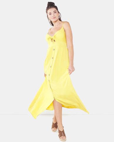 QUIZ Strappy Maxi Dress  Mustard