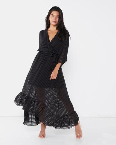 QUIZ Batwing Maxi Dress Black