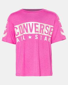 Converse Girls Pink All Star Knit Top