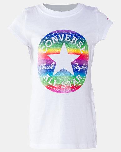 Converse Girls Foil Tee White