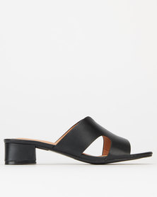 Utopia Cutout Mules Black