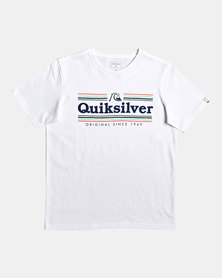 Quiksilver Boys Get Buzzy T-Shirt White