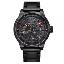 Pagani Design Classic Skeleton Automatic Stainless Steel Mens Watch - Black