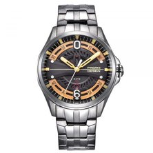 Pagani Design Quartz Automatic Stainless Steel Mens Watch - Silver/Rose Gold