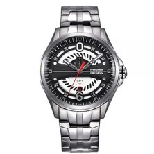 Pagani Design Quartz Automatic Stainless Steel Mens Watch - Silver/Black