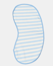 Creative Design Basic Stripe Burping Cloth Blue