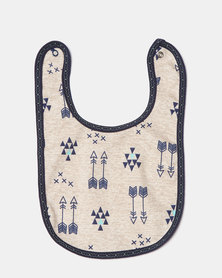 Creative Design Forest Aztec Bib Navy Multi