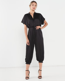 AX Paris Button Up Jumpsuit Black