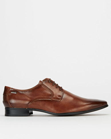 Gino Paoli Formal Lace Up Shoes Tan