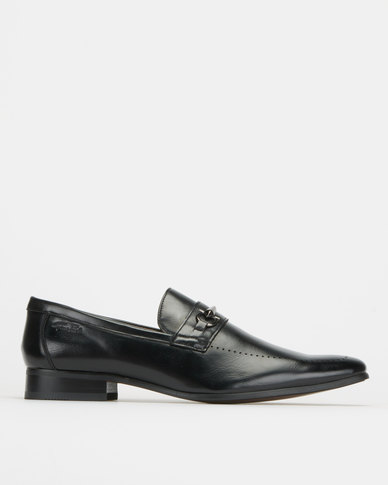 Gino Paoli Aniline Formal Slip Ons Black