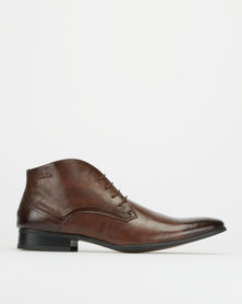 Gino Paoli Aniline Lace Up Boots Brown