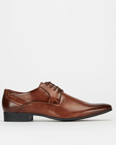 Gino Paoli Lace Up Formal Shoes Tan
