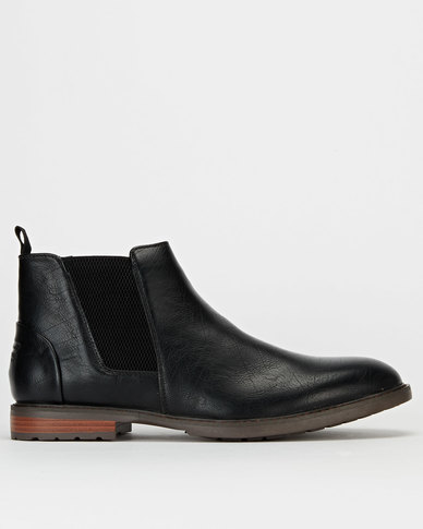 Gino Paoli Demin Wrinkle Boots Black