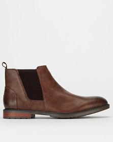 Gino Paoli Demin Wrinkle Boots Chocolate