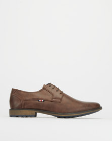 Gino Paoli Denim Distressed Nubuck Casual Shoes Chocolate