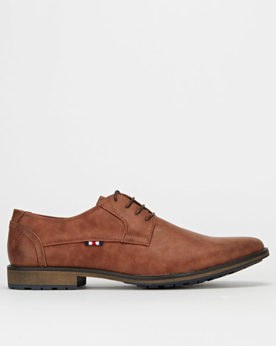 Gino Paoli Demin Distressed Nubuck Casual Shoes Tan